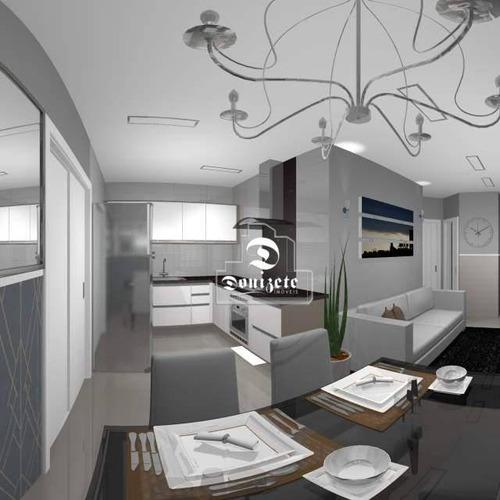 Cobertura Com 2 Dormitórios À Venda, 92 M² Por R$ 380.000,00 - Vila Scarpelli - Santo André/sp - Co11779