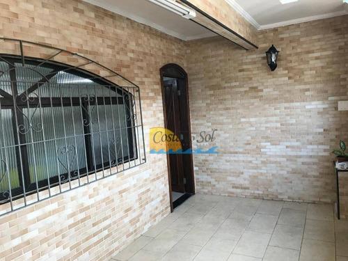 Casa Com 3 Dormitórios À Venda, 89 M² Por R$ 350.000,00 - Vila São Jorge - São Vicente/sp - Ca5557