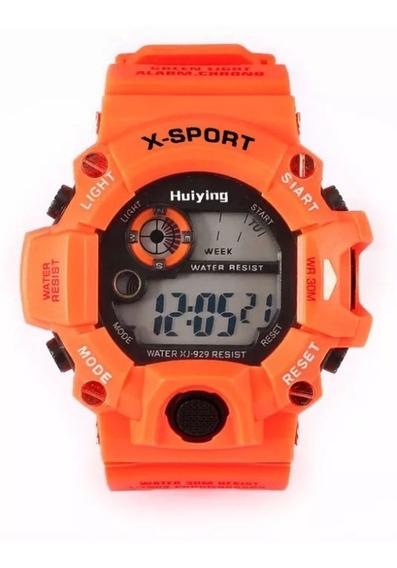 Relógio Infantil Masculino Digital Led Shock Sport Barato