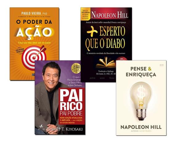 Livros Pai Rico Pai Pobre+ Pense E Enriqueça+ 2 Livros