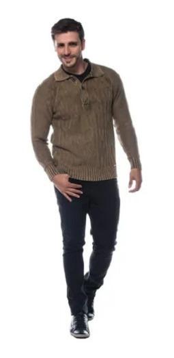 Blusa Polo Masculina 100% Algodão Tricot Masculino Ref. 1