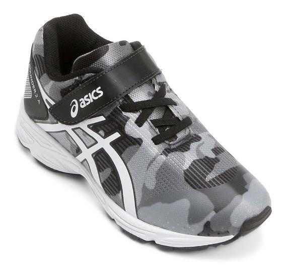 Tênis Asics Pre Bounder 2 Ps Cinza Preto Branco Masculino J