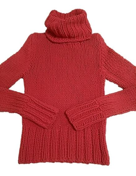 Sexy Suéter Cuello De Tortuga Rosa Talla M