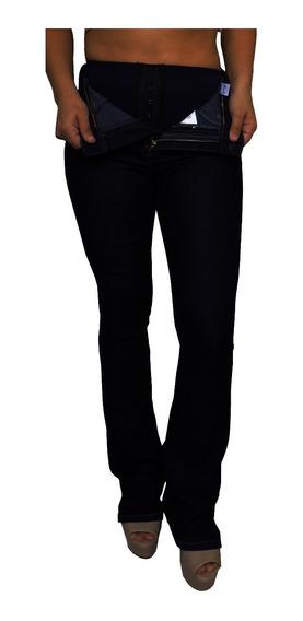 Calça Jeans Feminina Flare Cinta Modeladora Cós Alto Sawary