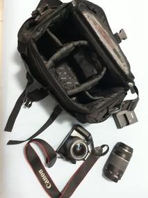 Camera Canon Rebel T3 + 2 Lentes + Cartão De Memoria+ Bolsa