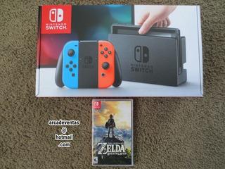 Nintendo Switch Neon + Zelda