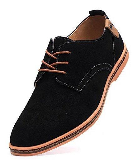 Zapatos De Vestir Oxford De Cuero De Ante Clasico Para Hombr