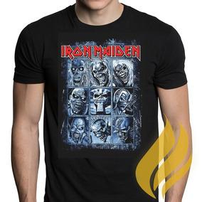 Camiseta Iron Maiden Dead One Faces Rock Liquidação!