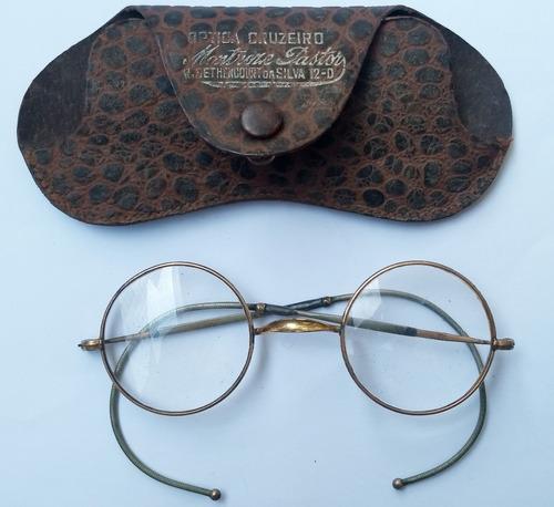 Óculos Antigo  Aste Flexivel Anos 30