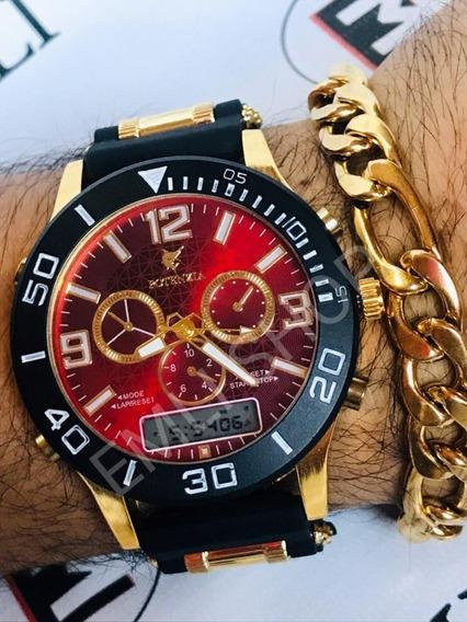 Relógio Masculino Militar Potenzia + Caixa+ Brinde Pulseira