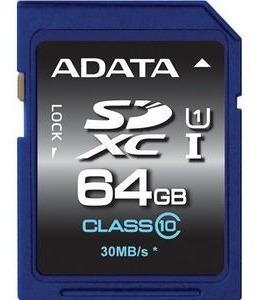 Cartão Memória Sd A-data 64gb Classe 10 - Asdx64guicl10