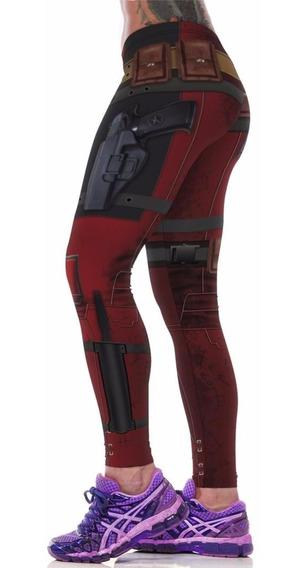 Leggins Deportipos Deadpool Super Heroes Gym