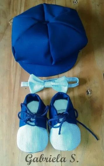 Set Bautismo: Boina, Moño, Zapatos Bebé. Invierno!