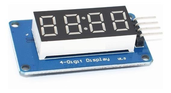 5x Módulo Display Tm1637 7 Segmentos 4 Dígitos Para Arduino