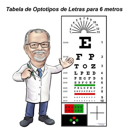 Optotipos - Papel Letras Para 6 Metros