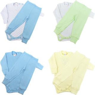 Roupa De Bebê Menino Kit 4 Conjuntos De Ribana Body E Calça