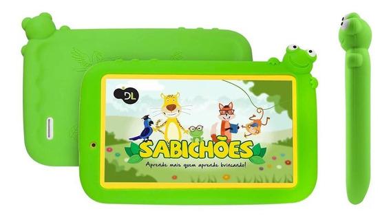 Tablet Dl Sabichões Tx386bvd 8gb Branco/verde