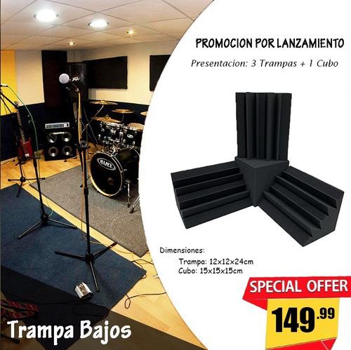 Oferta Trampa De Bajos + Cubo Esquinero Espuma Acústica