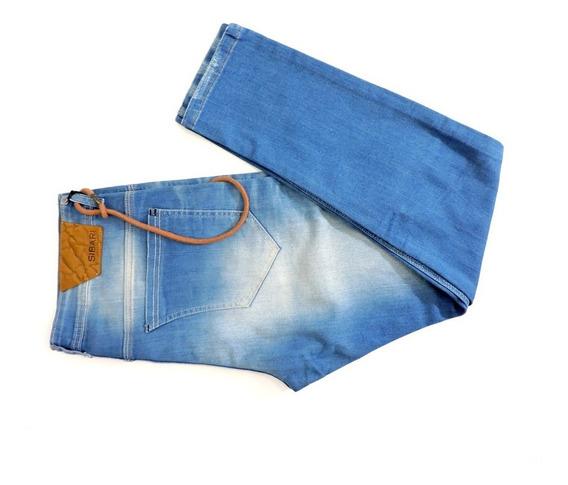 Pantalón Jeans Sibari Ocean Celeste Liso Chupin Hombre