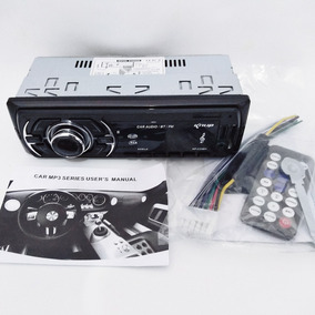 Radio Auto Bluetooth + Controle Cabo Mp3 Efeito Equalizador