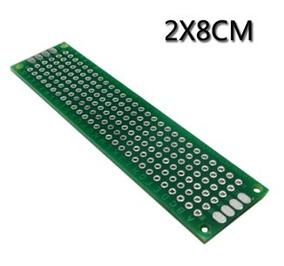 Placa Dupla Face 02 Pçs Fibra Perfurada Arduino 2x8 Cm Carta