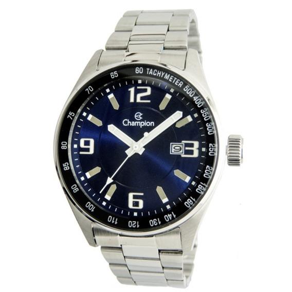 Relógio Masculino Champion Analógico Ca31622f - Prata/azul