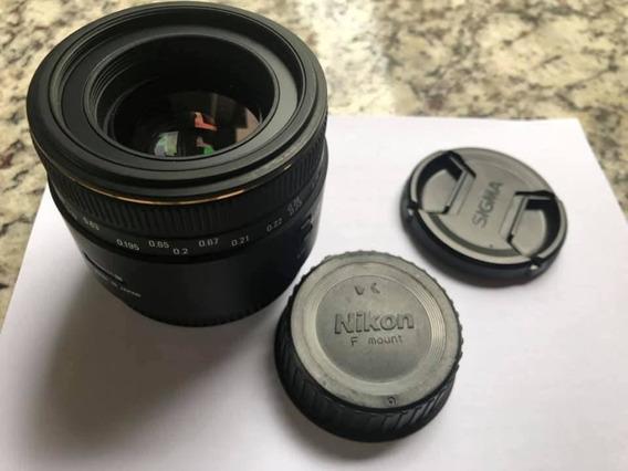 Lente Sigma Para Nikon 50mm 1:2.8 Dg Macro 12x Sem Juros!!!!