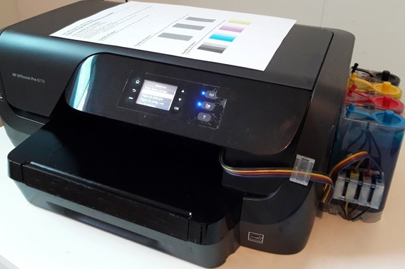 Impressora Hp 8210 C/ Bulk Ink, Grátis Kit De Tinta