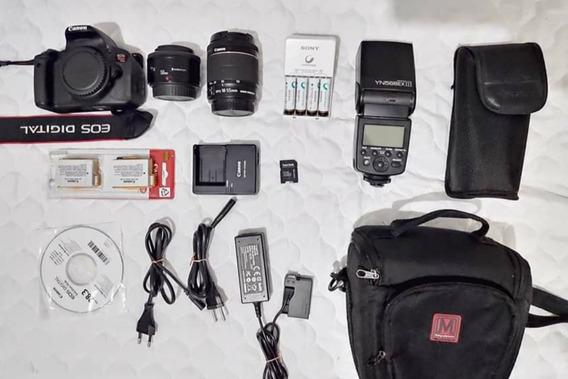 Kit Canon T5i + Flash + Lente 55mm