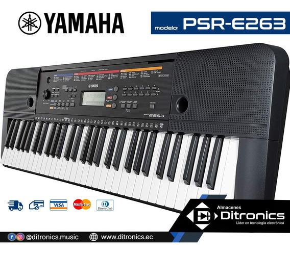 Teclado Yamaha Psr-e263 Incluye Adaptador Original - Piano
