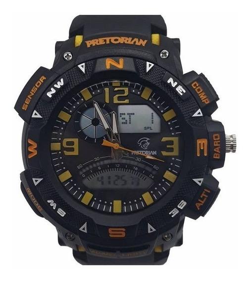 Relógio Pretorian Force Yellow /black/ Orange ( Wprt-06-2)