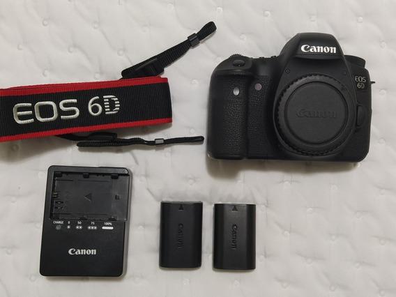 Câmera Canon 6d - Impecável, Menos De 20 Mil Clicks