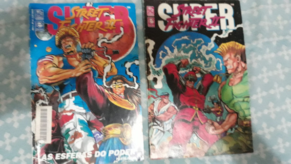 Revista Games Super Street Fighter 2 Quadrinhos Guile Lote