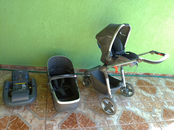 Kit Carrinho Da Kiddo Moon + Bebê Conforto Caracol + Base