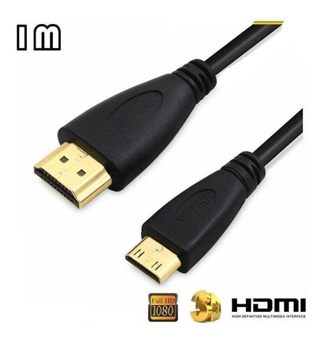 Imagen 1 de 3 de Cable De Video Hdm A Minihdm 1 Metro