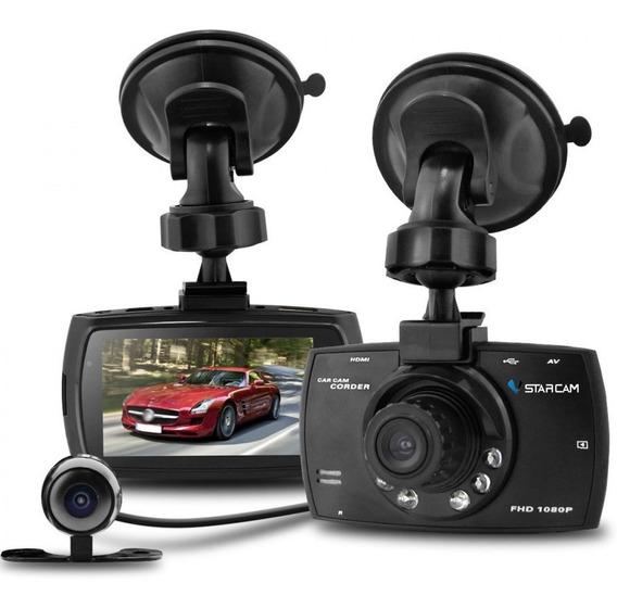 Camara Auto Testigo Mini Full Hd Doble Lente Vision Nocturna Video Filmadora Deportiva