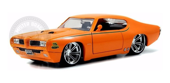 Miniatura Pontiac Gto Judge 1969 Laranja Jada 1/24