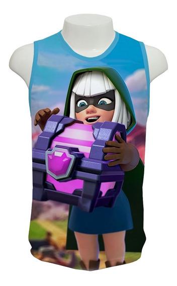 Camiseta Jogo Clash Royale Bandida 02 - Regata