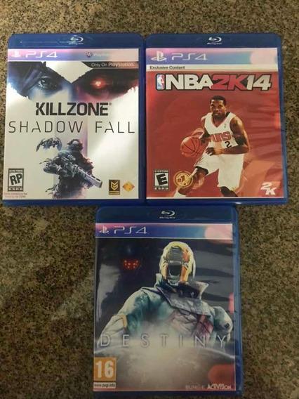 Lote 3 Jogos Playstation 4 Killzone