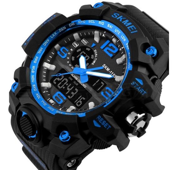 Relógio Digital Masculino Esporte Wr Resistente Água 1155