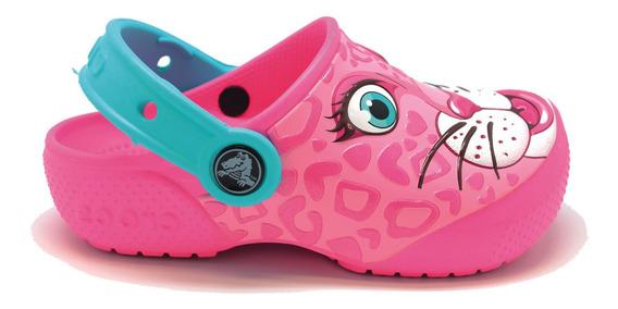 Zapato Crocs Niña Fun Lab Leopart Clog K