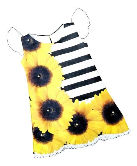 Vestido Mangas Girasoles (flores) - Ig