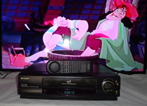 Vídeo Cassete Sharp Vc-1599b Hi-fi Stereo + Controle