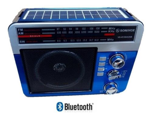 Radio Multibanda Mp3 Sw Am Fm  Bluetooh Linterna Panel Solar
