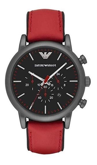 Relógio Emporio Armani Ar1971 Luigi Chronograph Black Dial L