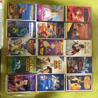 Lote Películas De Disney Originales Vhs