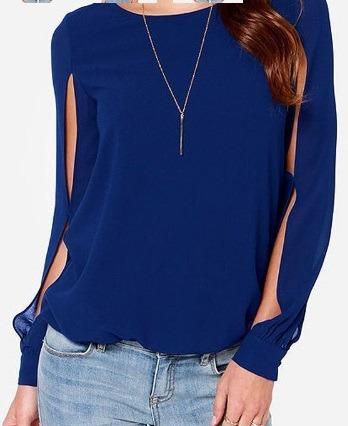 Blusa Azul, Talla S-m, Nueva