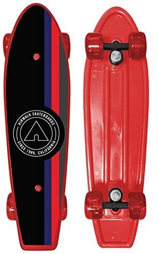 Airwalk Plástico Classictabla De Monopatín Rojo