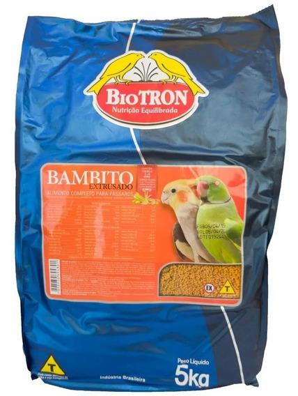 Ração Bambito Extrusado - 5kg - Biotron - Ração Para Aves