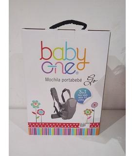 Baby One Mochila Con Apoya Cabeza Gris Bomo-004 E.full